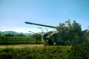 Đơn vị xe tăng T-54 Huấn luyện bắn đạn thật tại Trung tâm huấn luyện tổng hợp Tăng - Thiết giáp