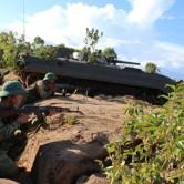 Kiểm tra huấn luyện chiến thuật bộ binh cơ giới ở Trung đoàn bộ binh cơ giới 48